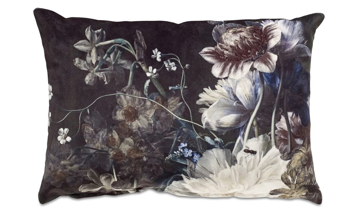 Cushions - Bindweed cushion - Black - Fabric