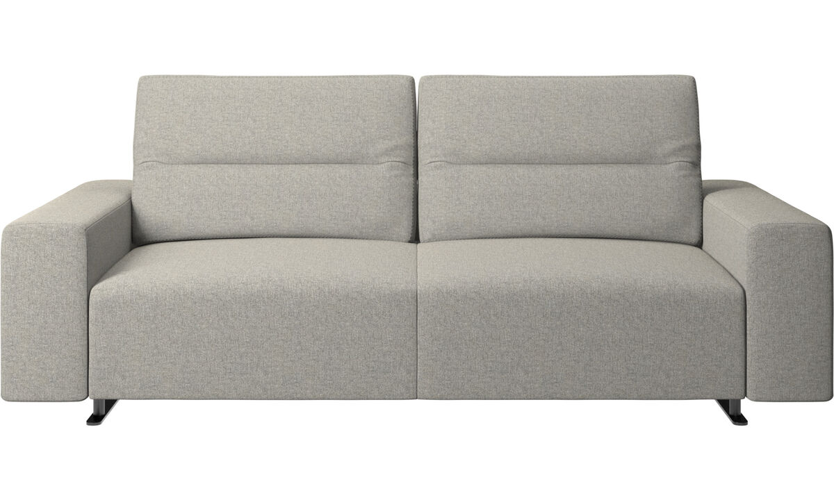 2.5 seater sofas - Hampton sofa with adjustable back - Gray - Fabric