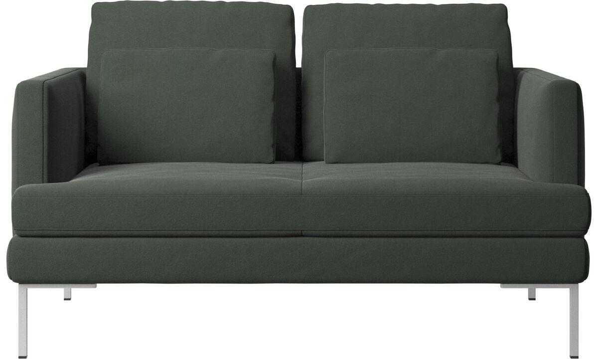 Sofás de 2 lugares - sofá Istra 2 - Verde - Tecido
