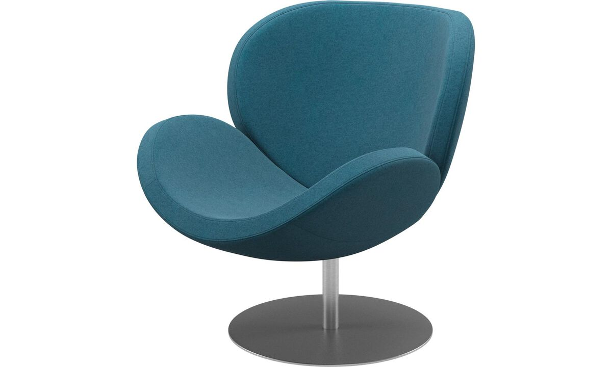 Armchairs - Schelly chair with swivel function - Blue - Fabric