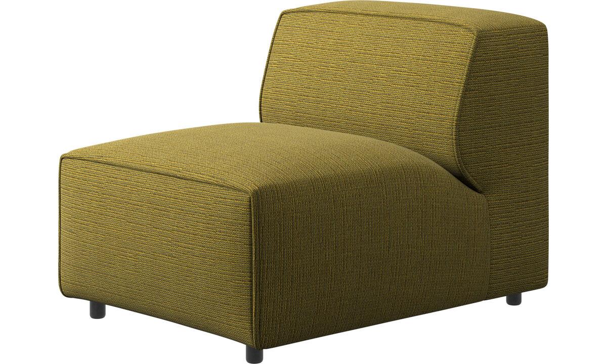 Modulære sofaer - Carmo stol/grundmodul - Gul - Stof