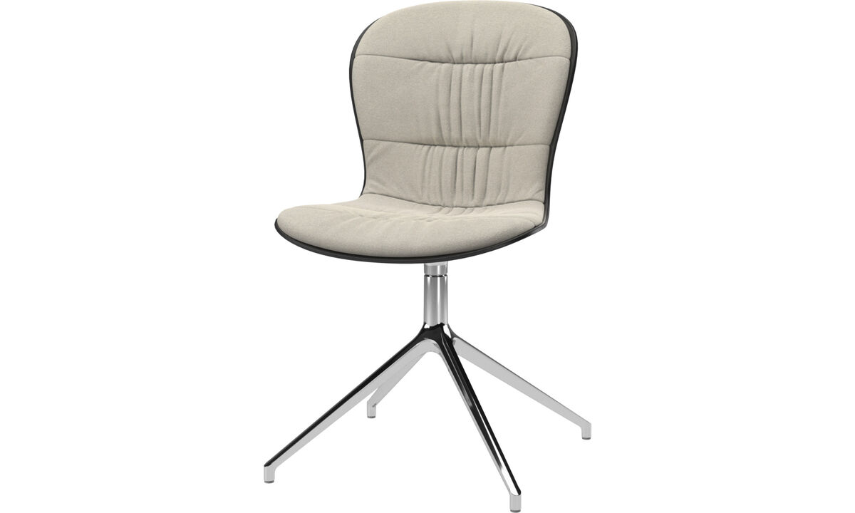 Dining chairs - Adelaide chair with swivel function - White - Fabric
