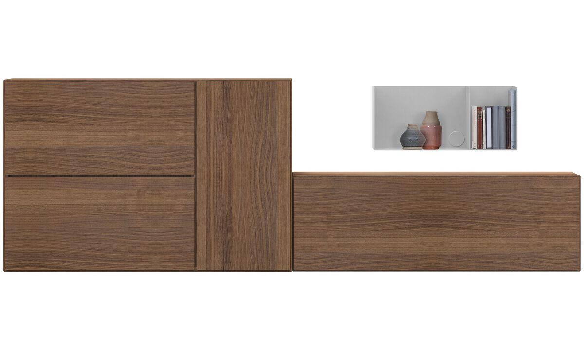 Sistemas de pared - Sistema de pared Lugano - En marrón - Nogal