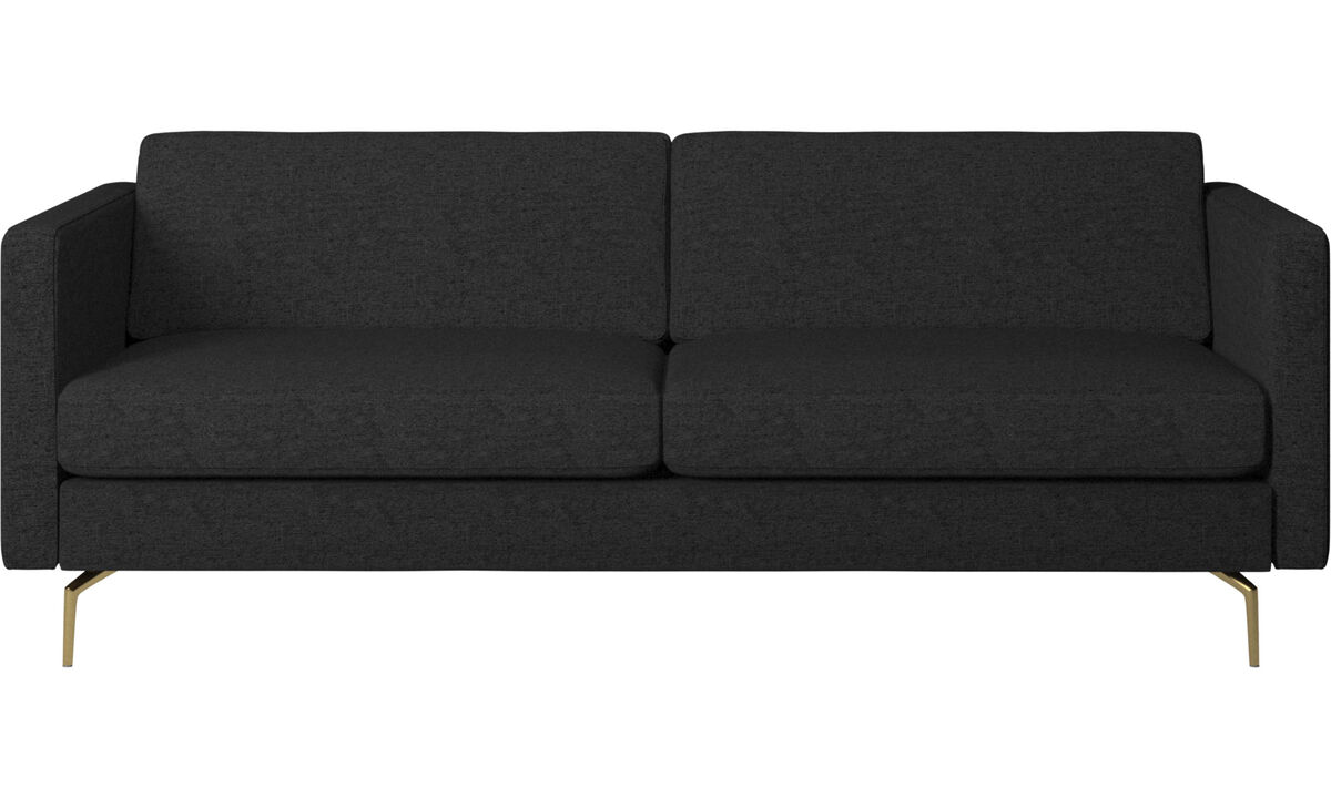 2.5 seater sofas - Osaka sofa, regular seat - Grey - Fabric
