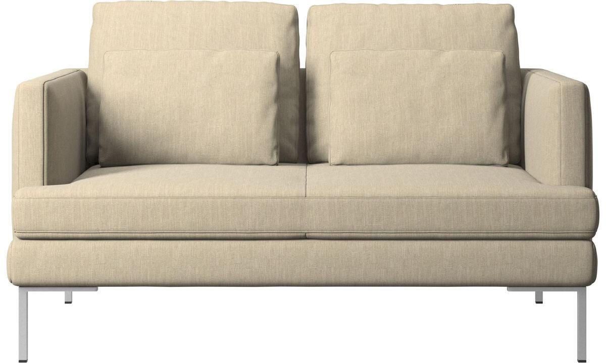 Sofás de 2 plazas - sofá Istra 2 - En marrón - Tela