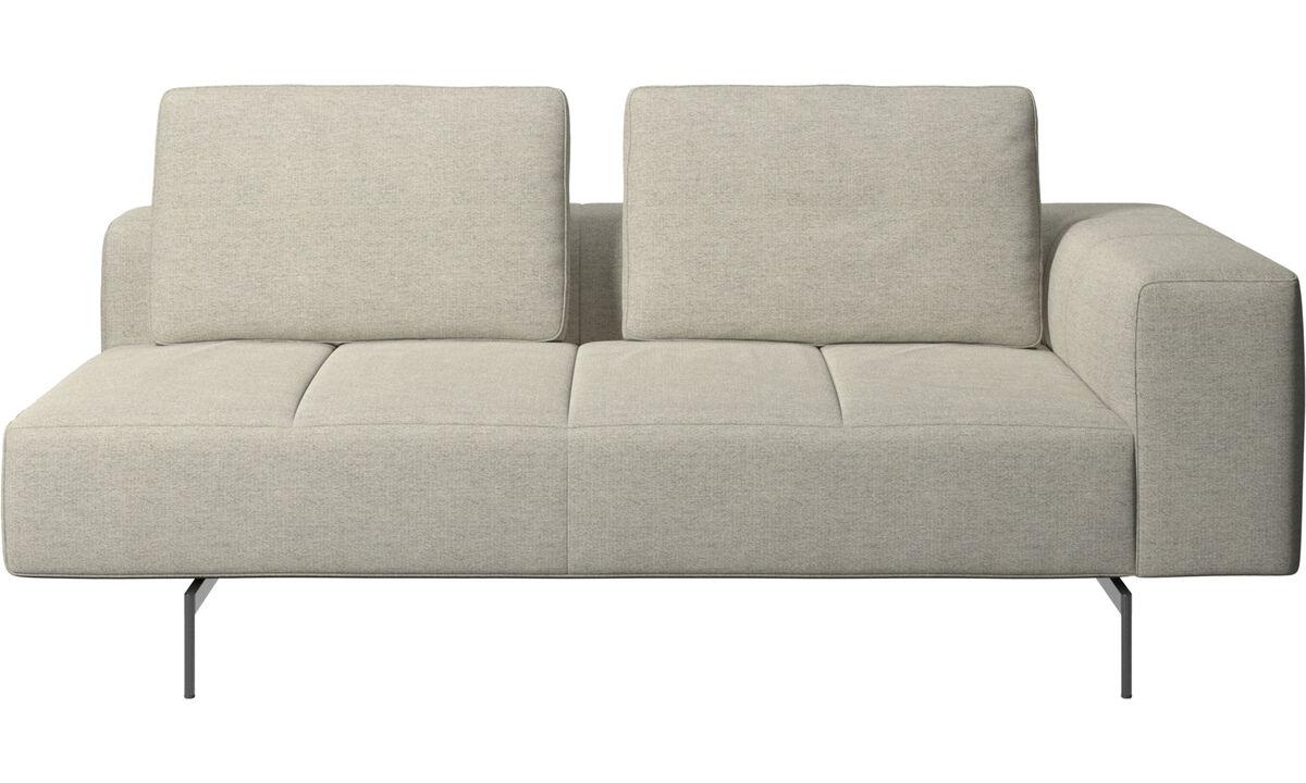Sofás modulares - módulo de assento 2,5 Amsterdam, apoio de braço direito - Bege - Tecido