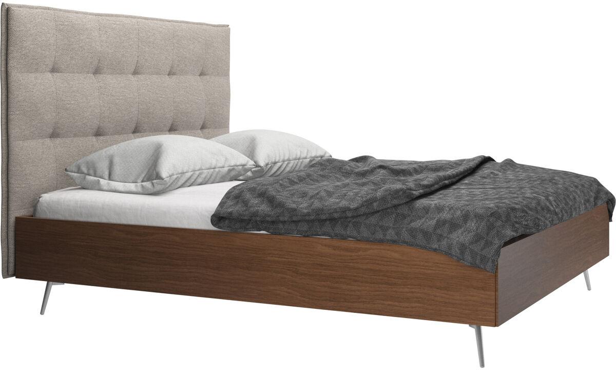 Nowe łóżka - Łóżko Lugano, cena bez materaca - Beżowy - Tkanina