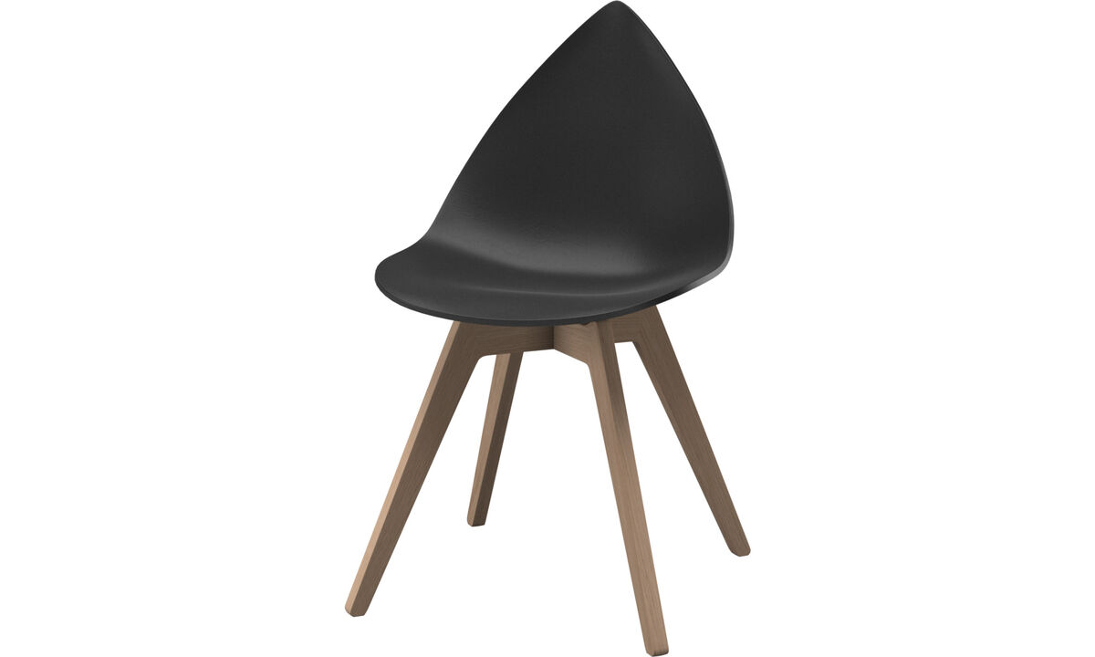 Dining chairs - Ottawa chair - Black - Plastic