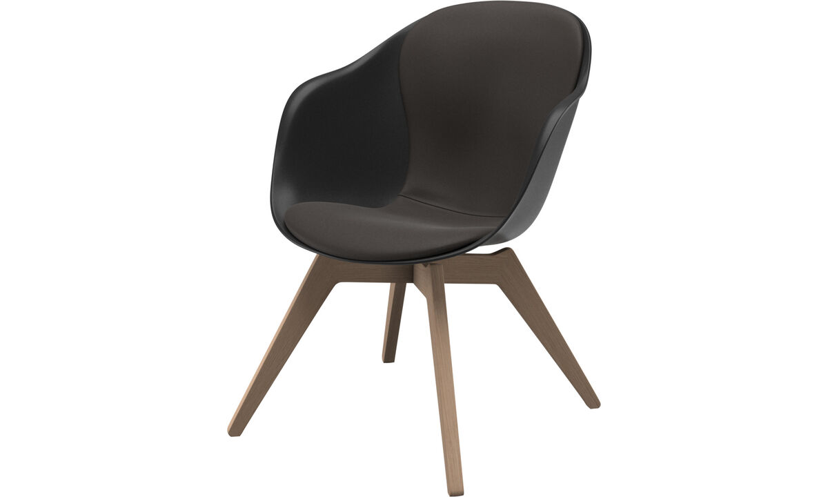 Armchairs - Adelaide lounge chair - Brown - Leather