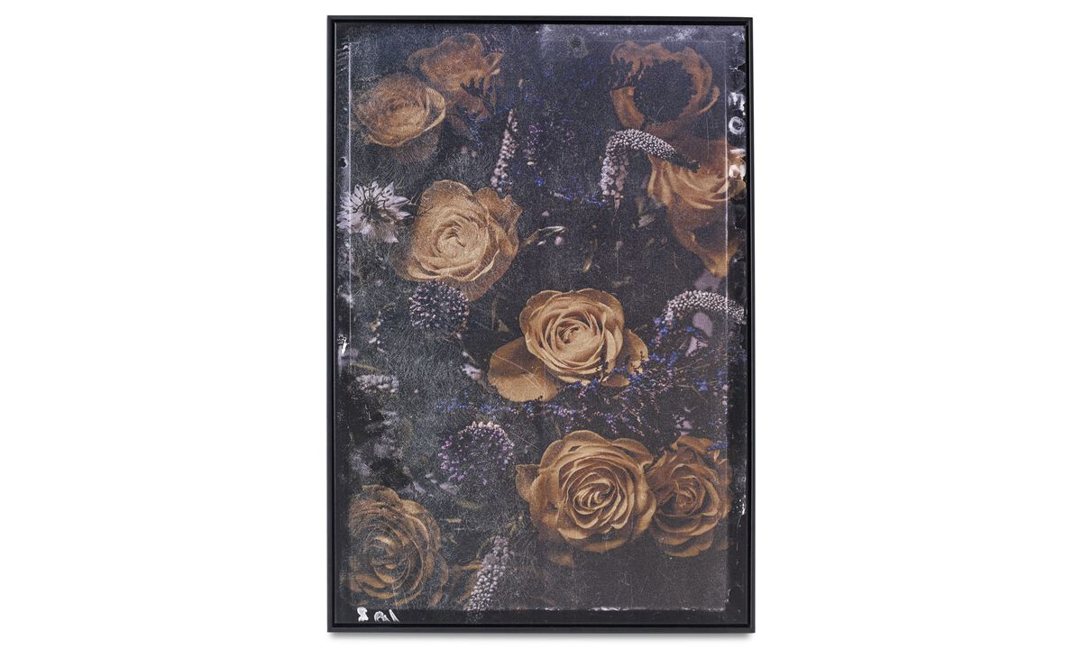 New designs - Bouquet canvas print - Wood