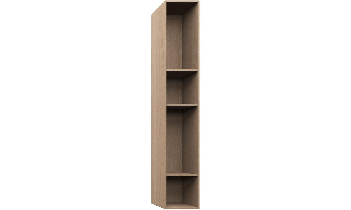 Wall Units - Como bookcase - Brown - Oak