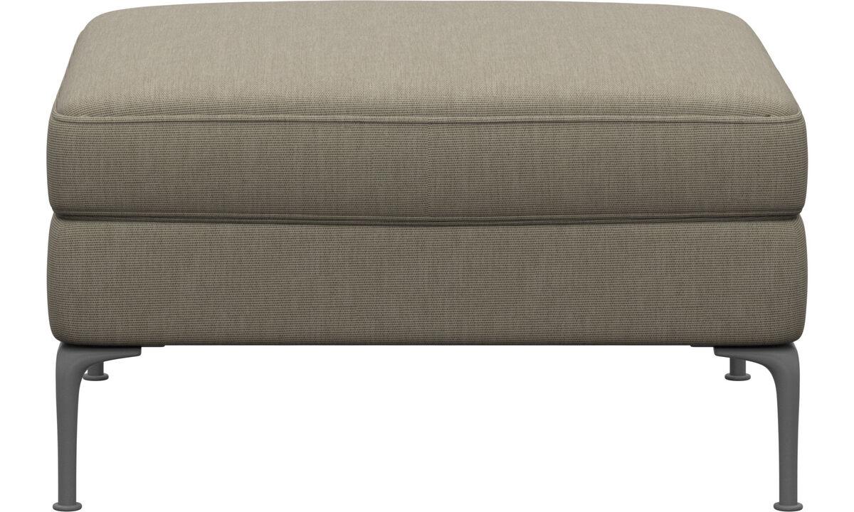 Footstools - Marseille footstool - Brown - Fabric