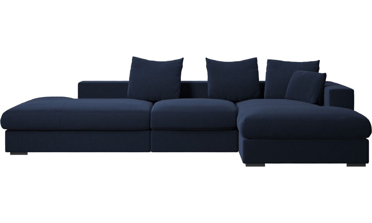 New designs - Cenova sofa with lounging and resting unit - Blue - Fabric