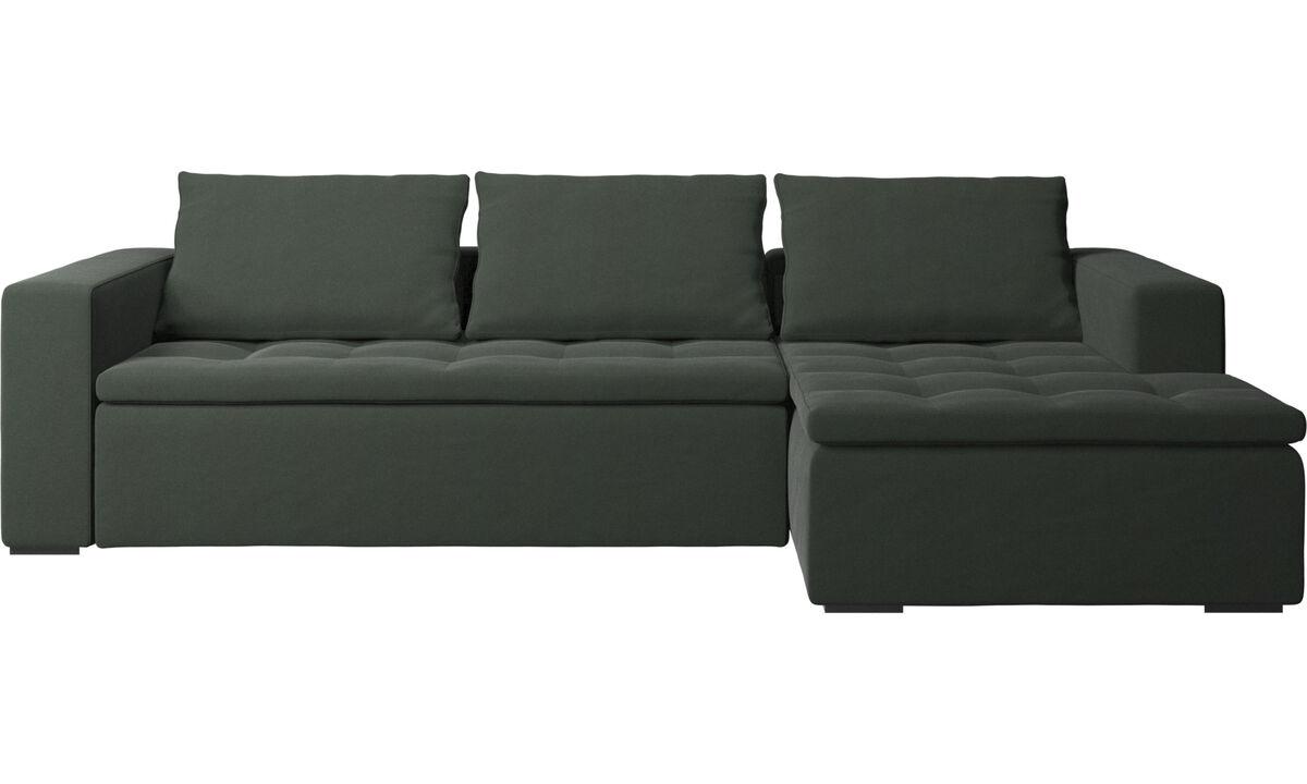 Sofás com chaise - Sofá Mezzo chaise-longue - Verde - Tecido