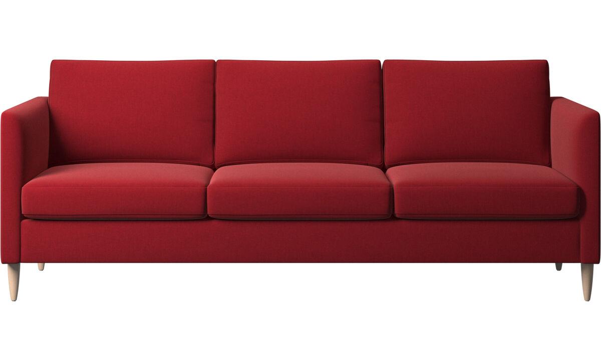 Sofás de 3 lugares - sofá Indivi - Vermelho - Tecido