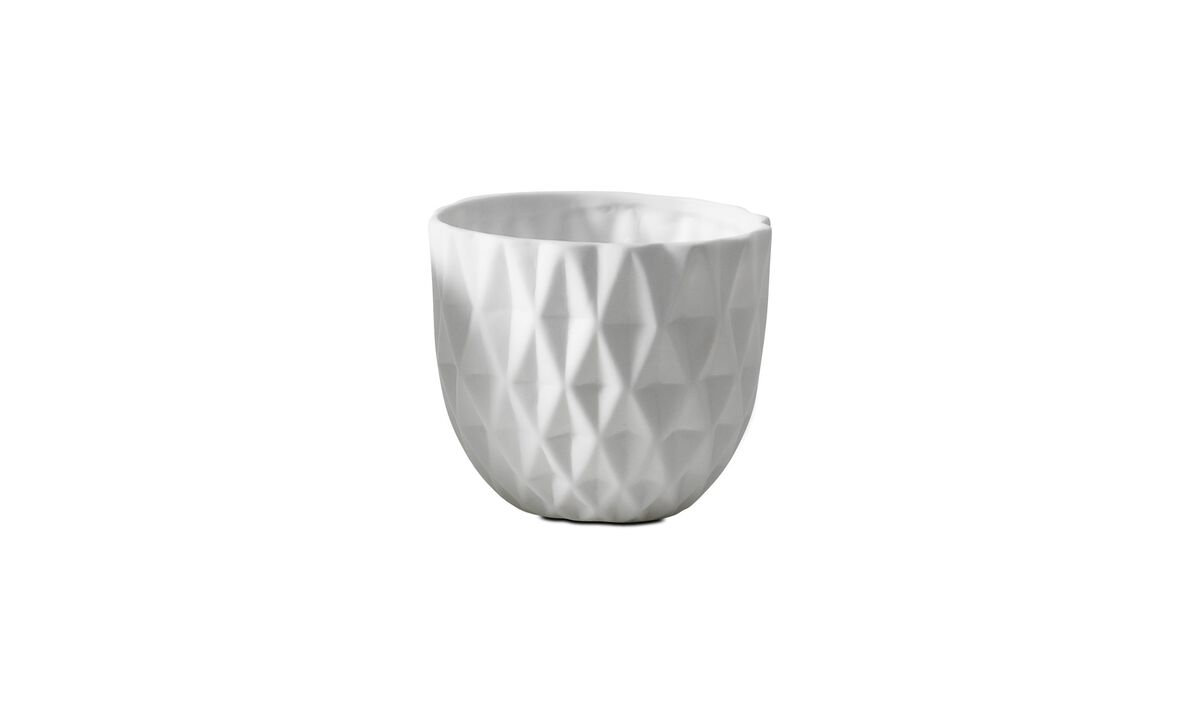 Candle holders - 3D structure tealight holder, Truth - White - Ceramic