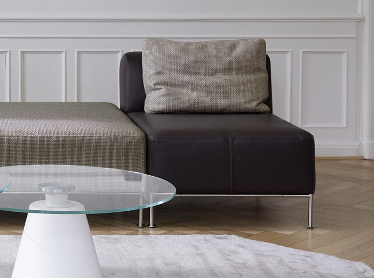 Modular sofas - Miami corner sofa with footstool on left side