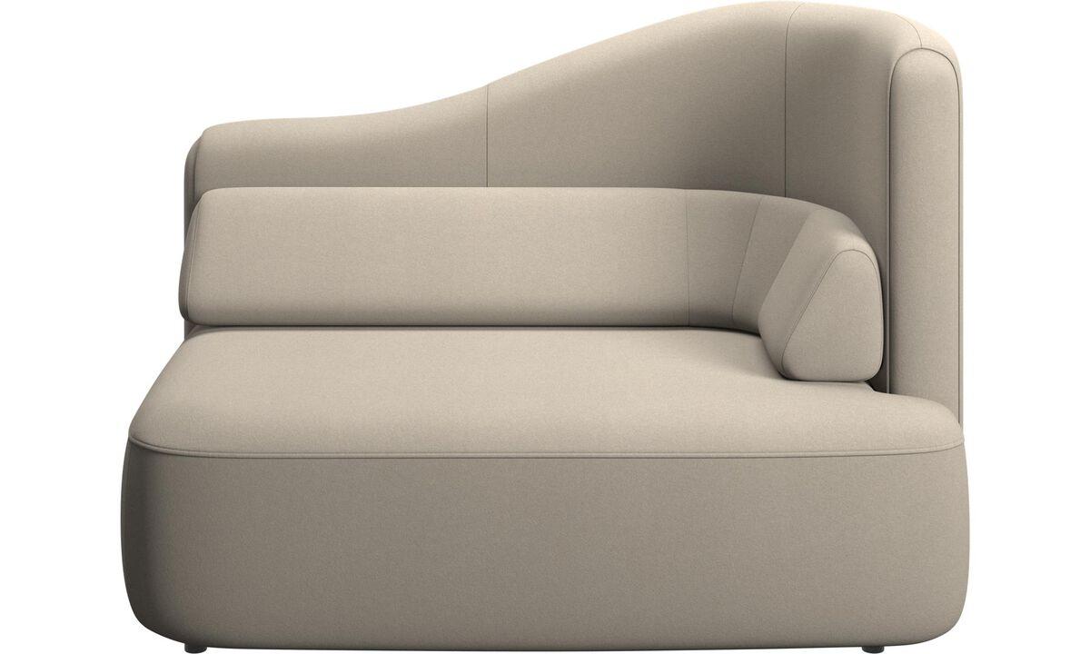 Modulárne sedačky - 1,5 sed Ottawa, opierka rúk vpravo - Béžová - Látka