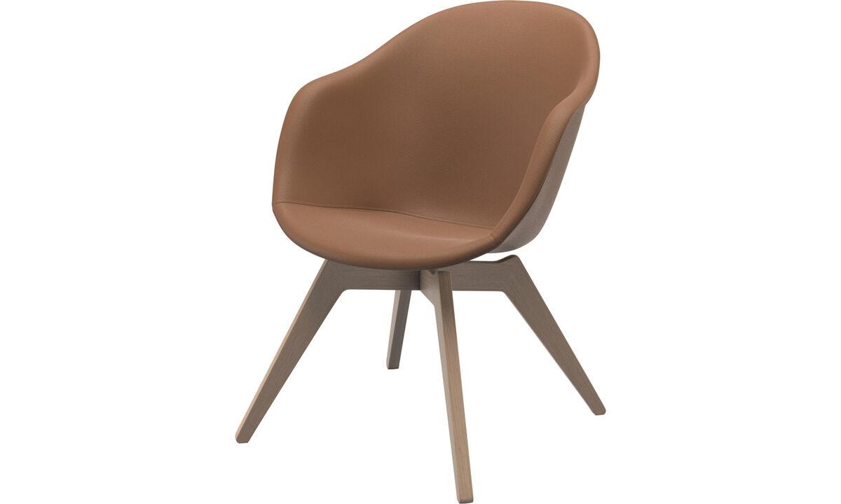 Sillones - Silla Adelaide lounge - En marrón - Piel