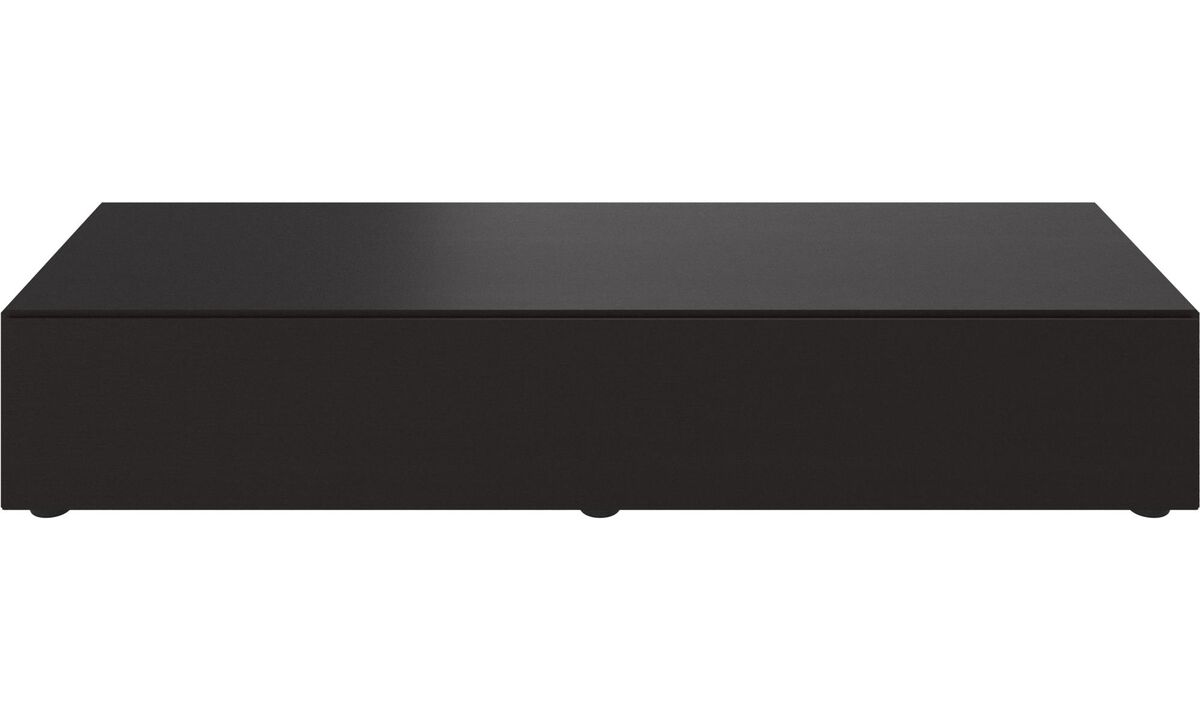 Tv units - Lugano base cabinet with drop-down doors - Black - Oak