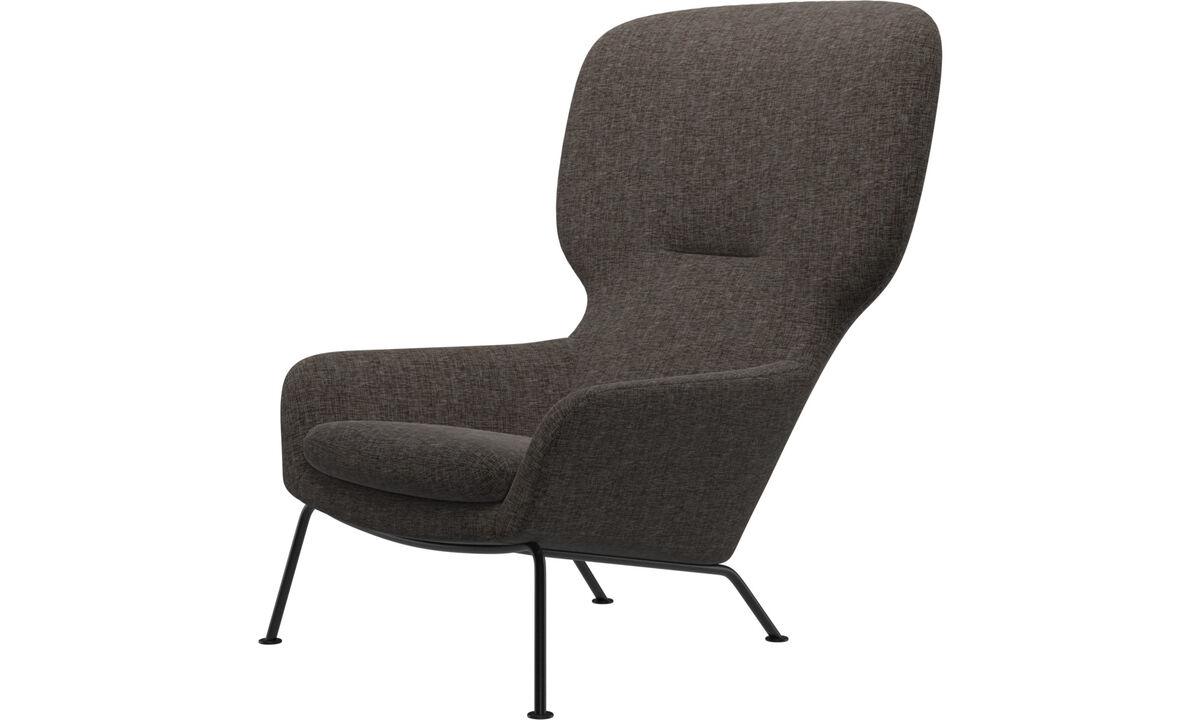 Armchairs - Dublin chair - Brown - Fabric
