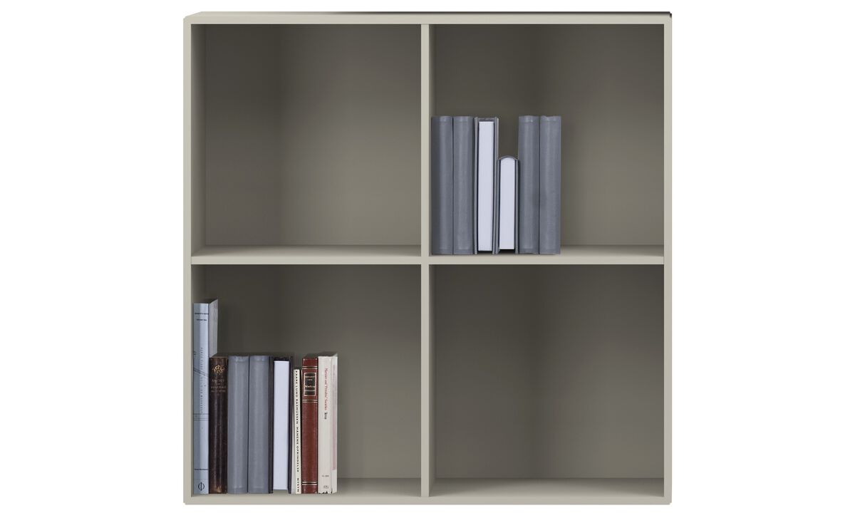 Wall systems - Como bookcase - Grey - Lacquered