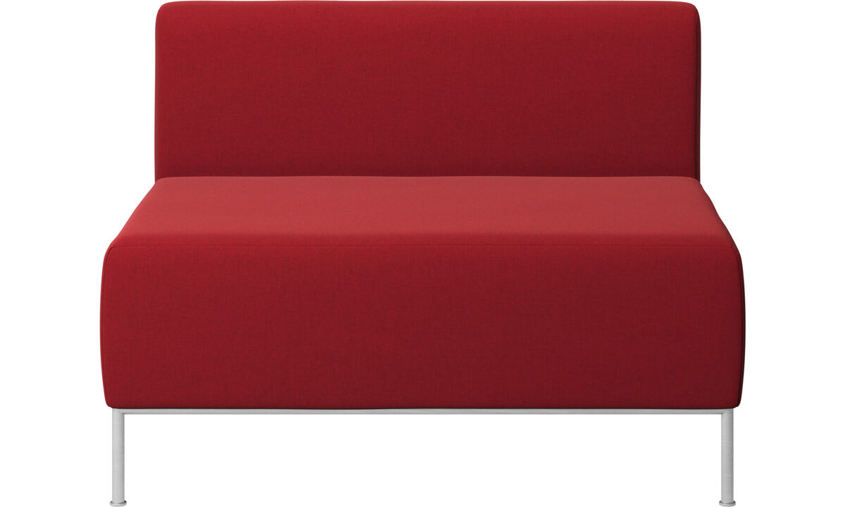 Armchairs - Miami seat with back - Red - Fabric