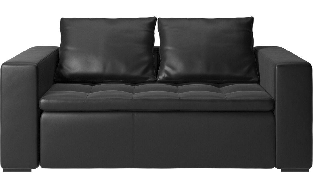 Sofás de 2 plazas - sofá Mezzo - En negro - Piel