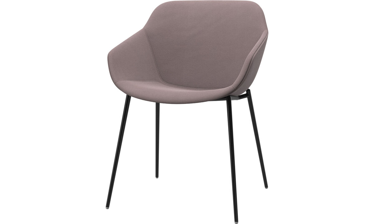 Dining chairs - Vienna chair - Purple - Fabric