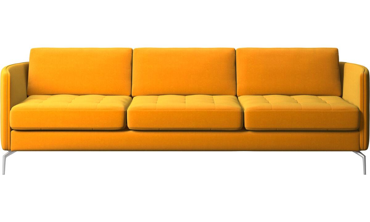 sofá Osaka, asiento capitoné - Naranja - Tela
