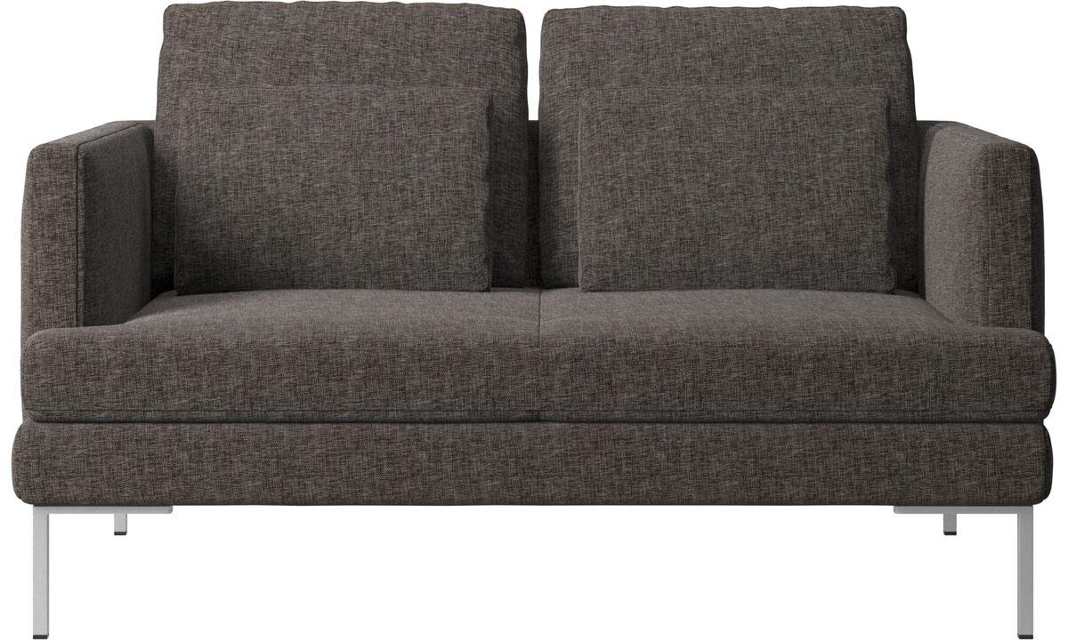 2 seater sofas - Istra 2 sofa - Brown - Fabric