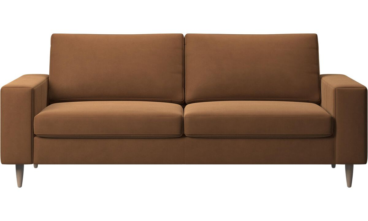 2.5 seater sofas - Indivi sofa - Brown - Leather