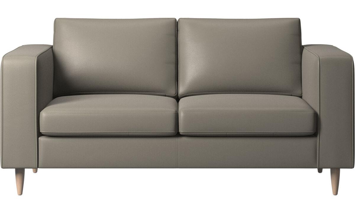 Sofás de 2 plazas - sofá Indivi - En gris - Piel