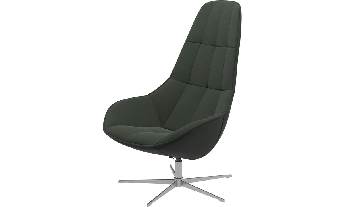 Armchairs - Boston chair with swivel function. Also available with tilt function - Green - Fabric