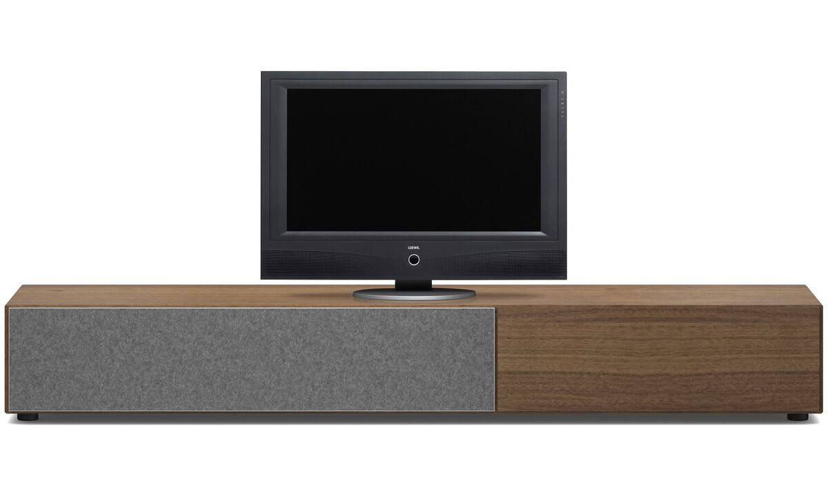 Tv units - Lugano base cabinet with drawer and drop down door - Walnut