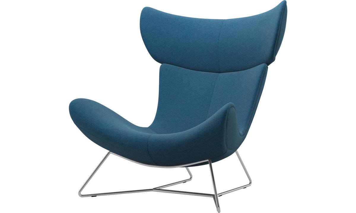 Armchairs and footstools - Imola chair - Blue - Fabric