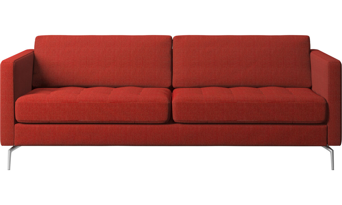 2.5 seater sofas - Osaka sofa, tufted seat - Red - Fabric