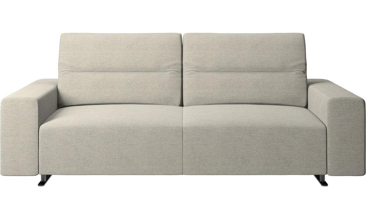 2,5-местные диваны -  диван Hampton с регулируемой спинкой и системой хранения с правой стороны - Бежевого цвета - Tкань