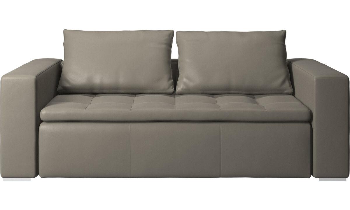 2.5 seater sofas - Mezzo sofa - Grey - Leather