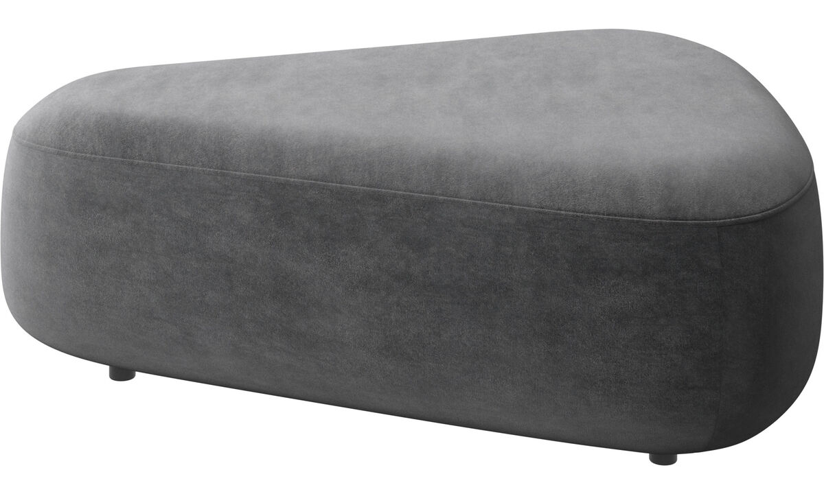 Modular sofas - Ottawa triangular pouf - Gray - Fabric