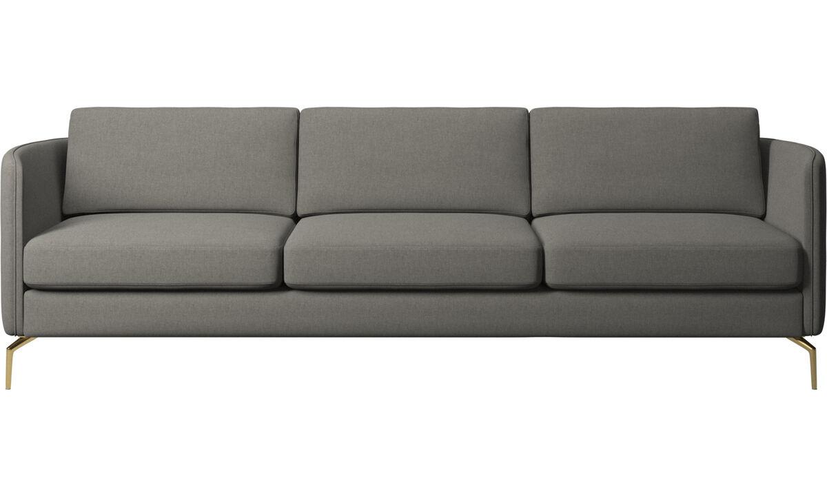 3 seater sofas - Osaka sofa, regular seat - Gray - Fabric