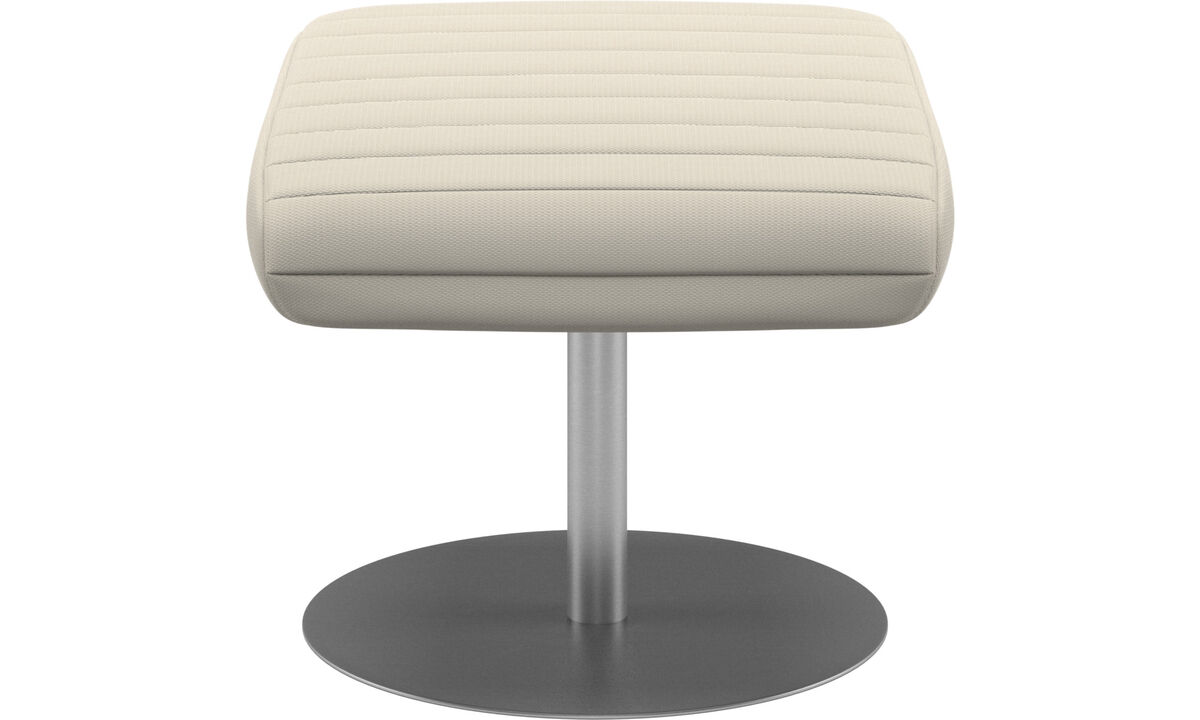 Ottomans - Wing footstool - White - Fabric