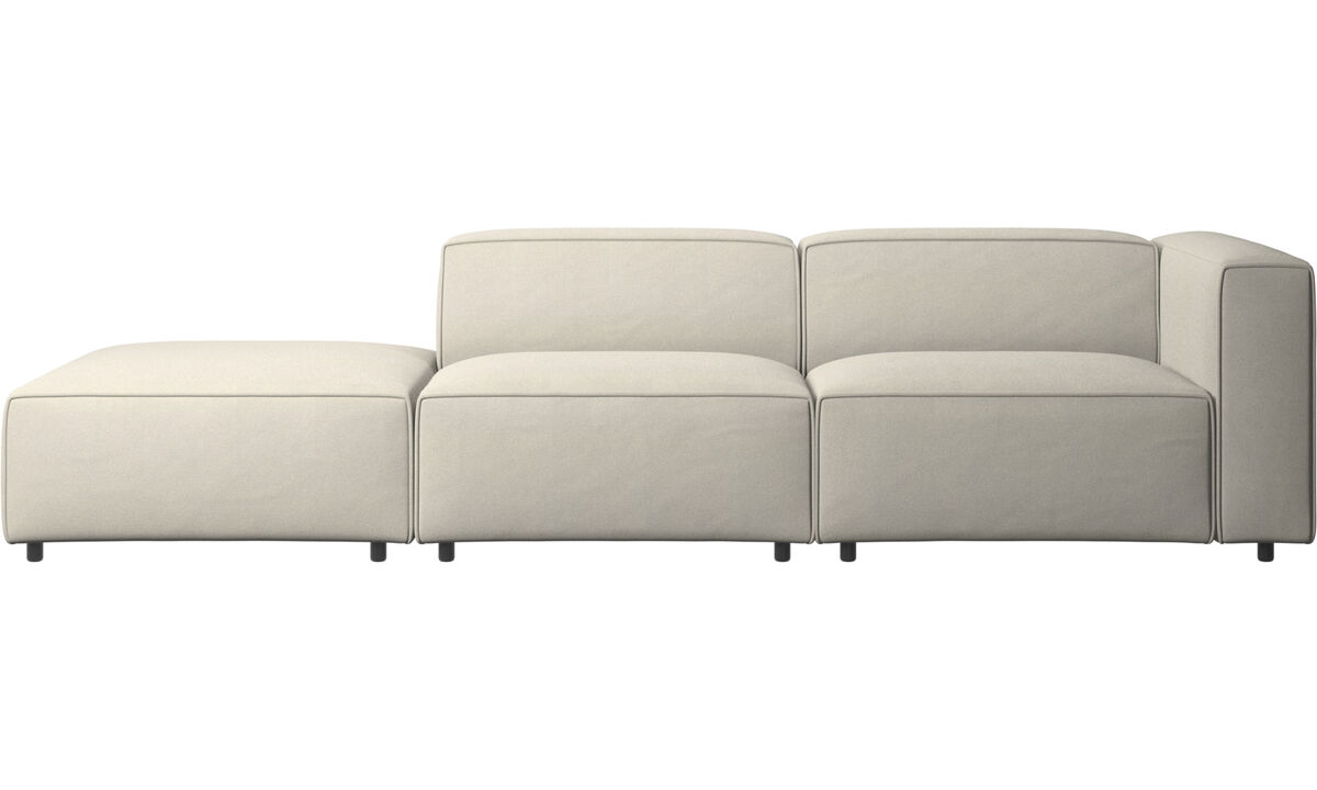 Sofas with open end - Carmo sofa with lounging unit - White - Fabric