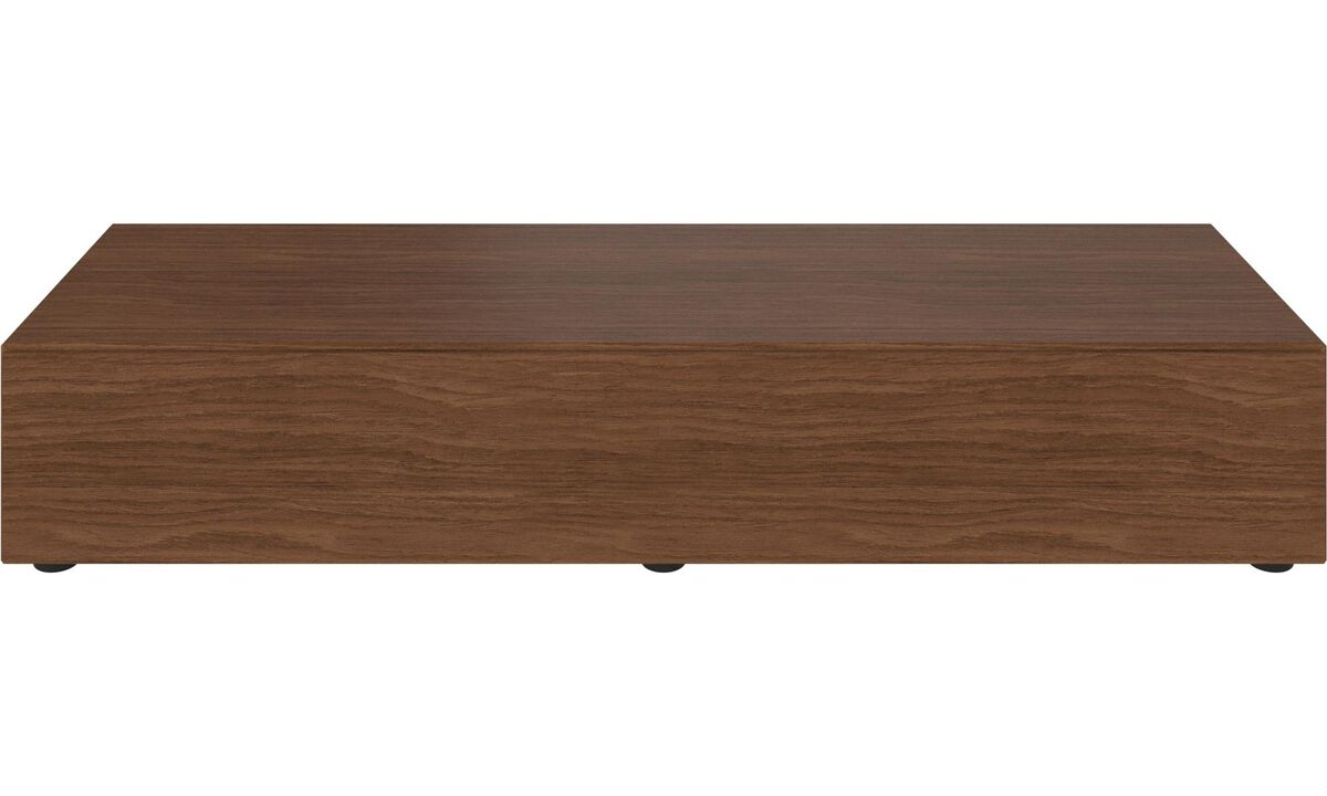 Tv units - Lugano base cabinet with drop-down doors - Brown - Walnut