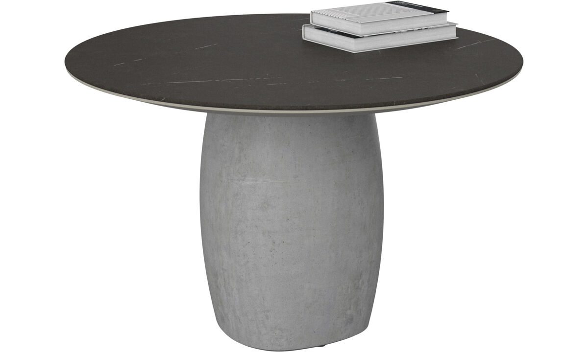 Coffee tables - Bilbao coffee table - round - Black - Ceramic