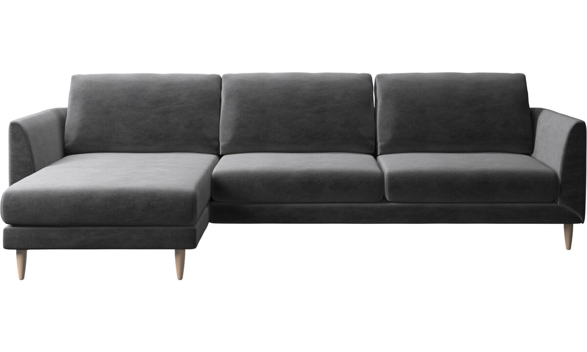 Chaise lounge sofas - Fargo sofa with resting unit - Gray - Fabric