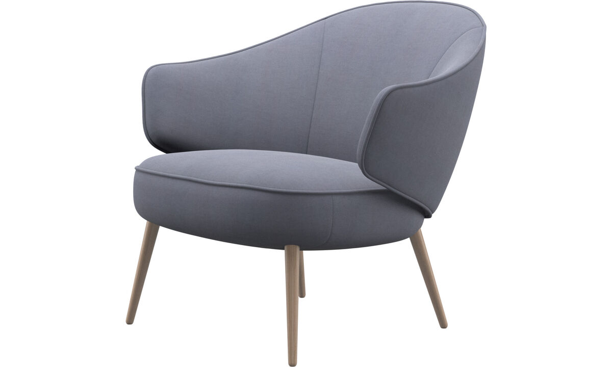 Armchairs - Charlotte chair - Blue - Fabric