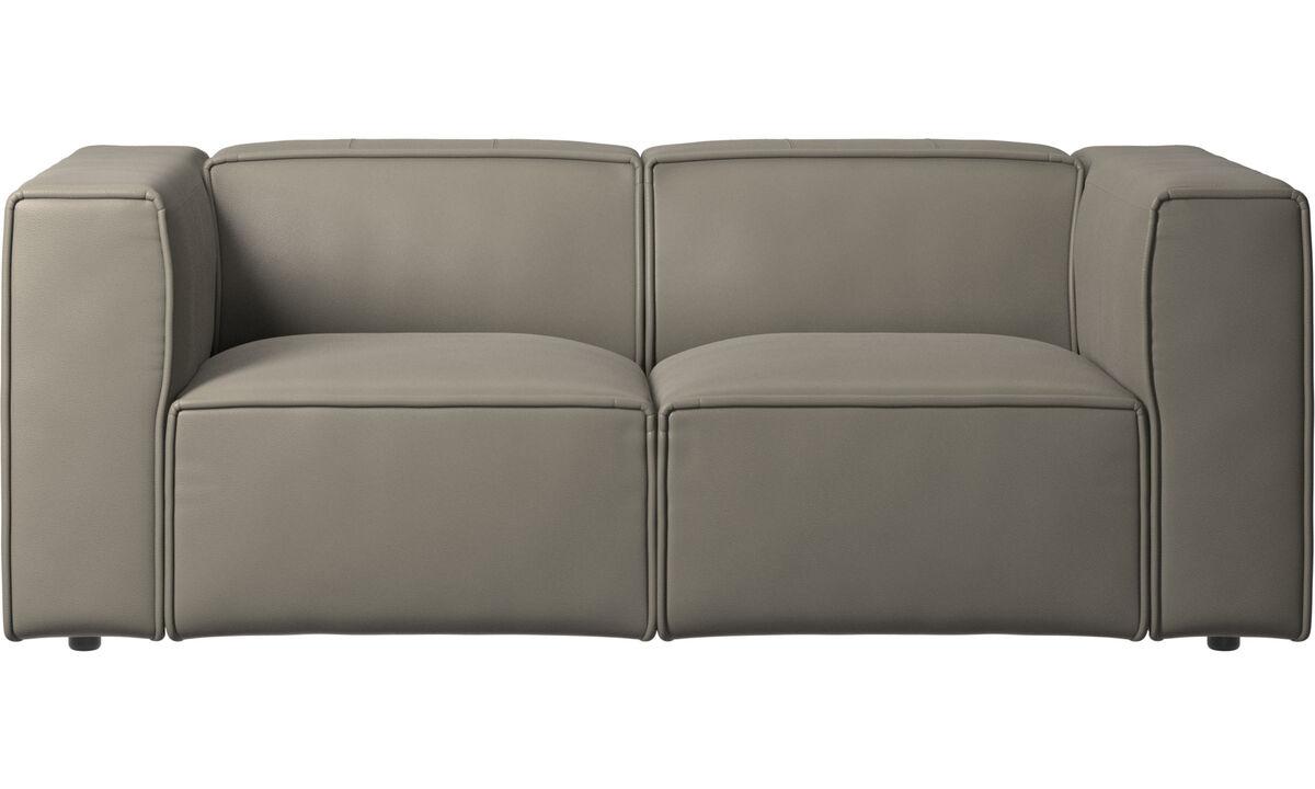 Sofás modulares - sofá Carmo - En gris - Piel