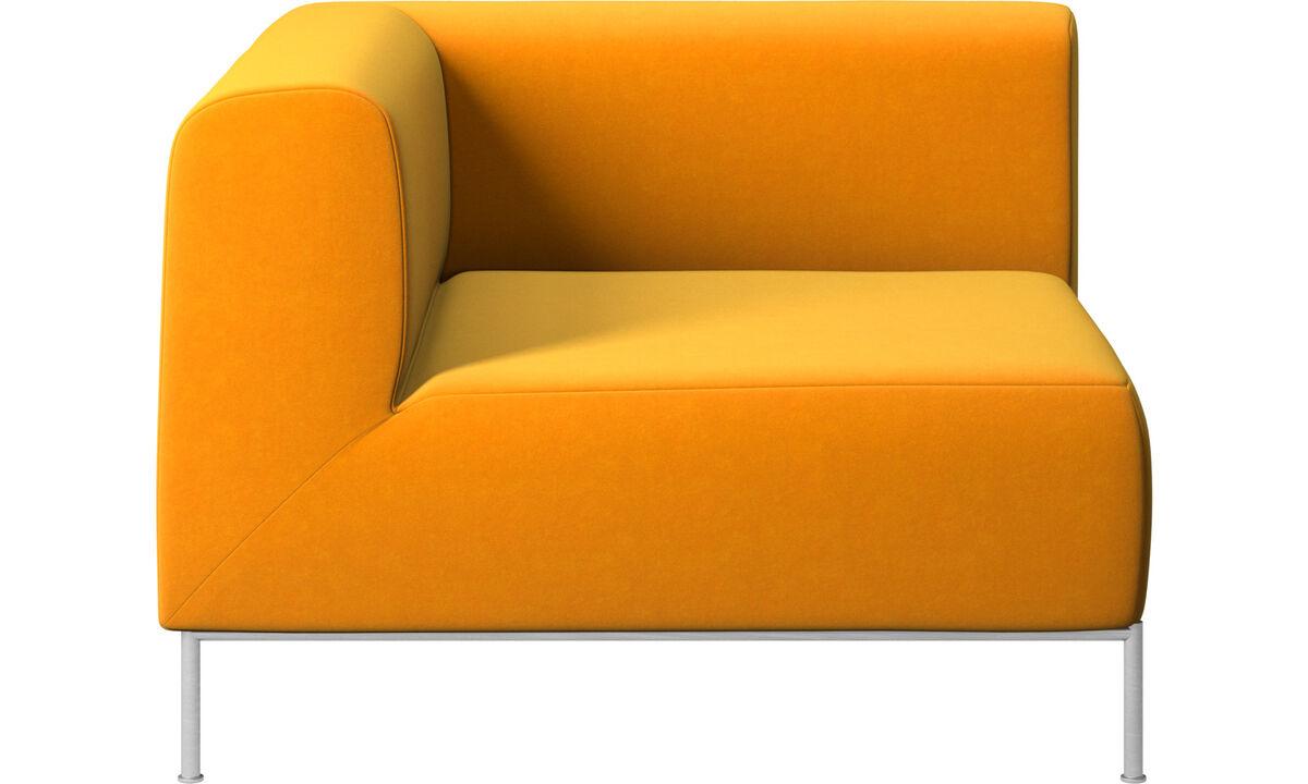 Modular sofas - Miami corner unit left side - Orange - Fabric