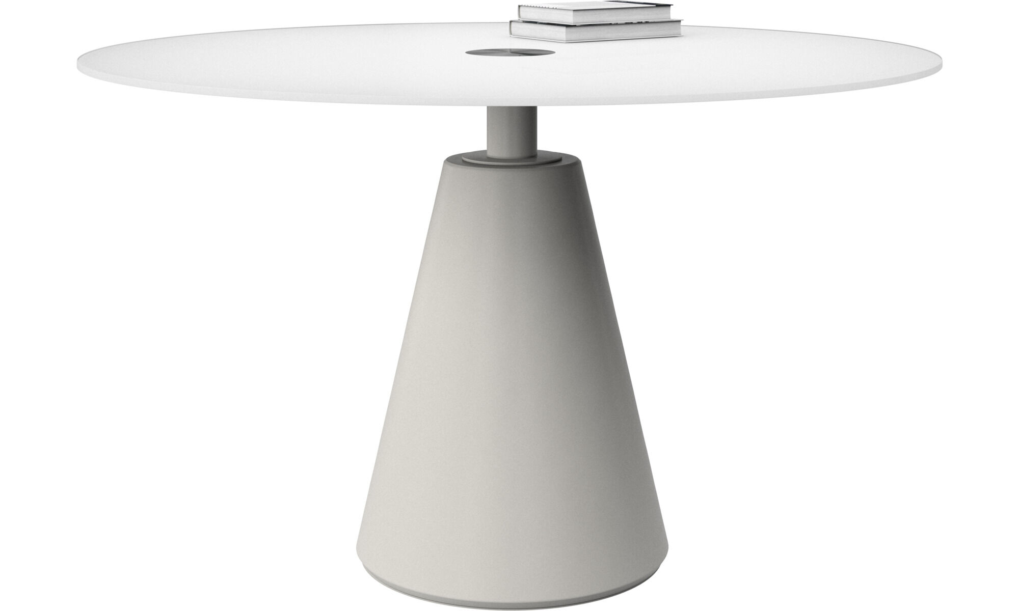 Dining Tables   Madrid Table   Round   White   Glass